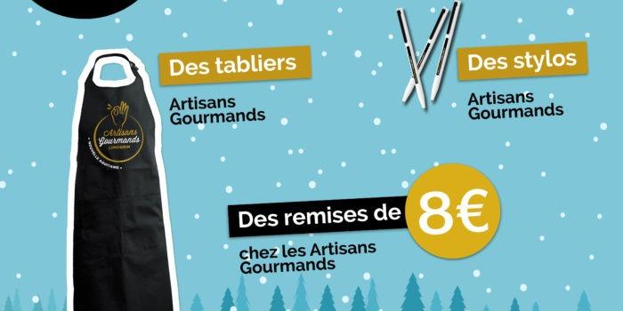 Jeu à gratter Noël artisans gourmands de nouvelle-aquitaine