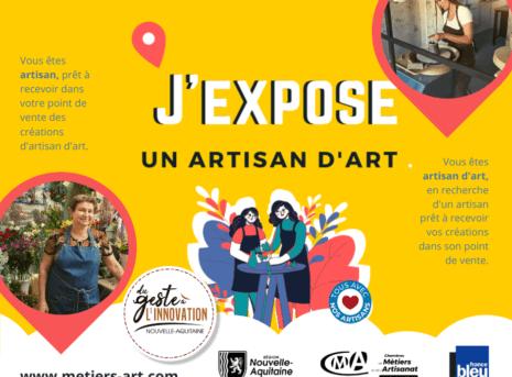 expose un artisan d'art en charente maritime action de solidarité