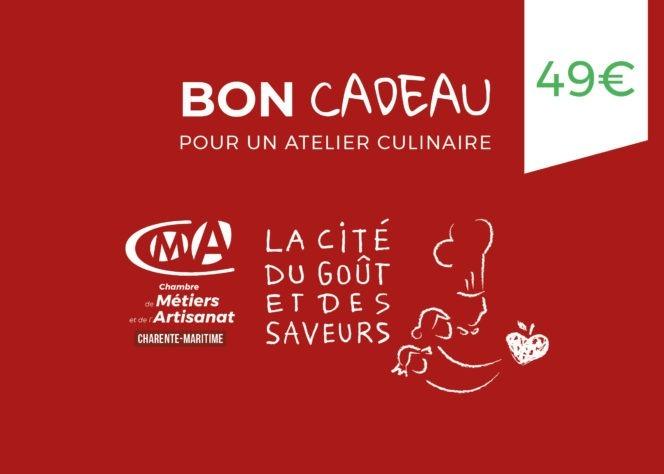Bon-cadeau-CMA17_2021 - 49 euros cours de cuisine La Rochelle, Jonzac ...