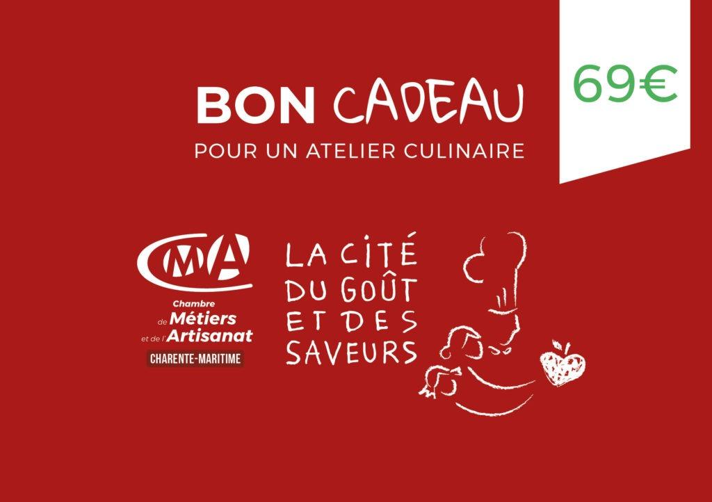 Bon-cadeau-CMA17_2021 - 69 euros cours de cuisine en Charente-Maritime